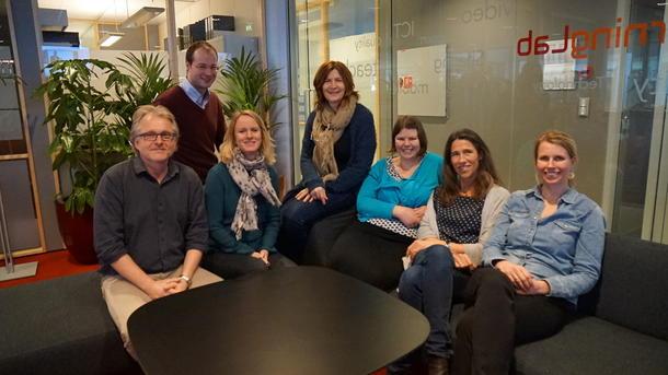 Prosjektgruppa: Oddgeir Tvedten, UiA, Svend Andreas Horgen, USN og HiST, Anna Steen-Utheim, BI, Anne Swanberg, BI, Inger Carin Erikson, BI, Hjørdis Hjukse, USN og Torill Aagard, USN. Vidar Mortensen, UiA og June Breivik, BI har også deltatt, men er ikke på bildet.