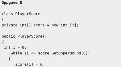 """Figur 6: Kode skrevet rett i hoveddokumentet med stiltypen """"Kodeavsnitt"""" valgt."""